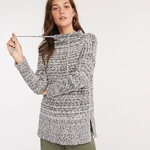 LOU & GREY Marlknit Drawstring Neck Tunic Sweater